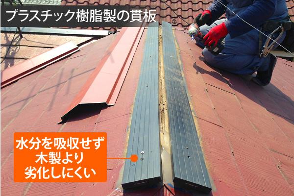 プラスチック樹脂製の貫板