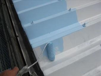 屋根塗装の色はクールベビーブルーを選択