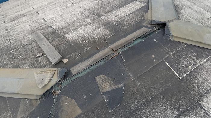 棟板金の解体