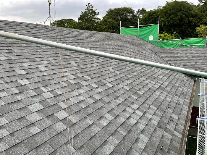 瓦屋根からシングル屋根にリフォーム