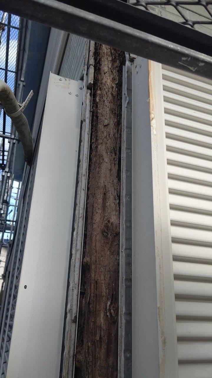 台風で破損した外壁サイディングコーナー部分