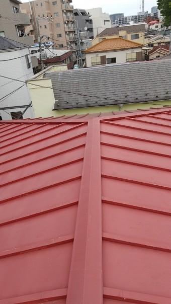 瓦棒屋根、屋根点検