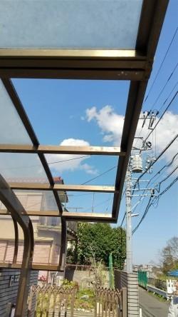 カーポート破損、台風被害、火災保険利用