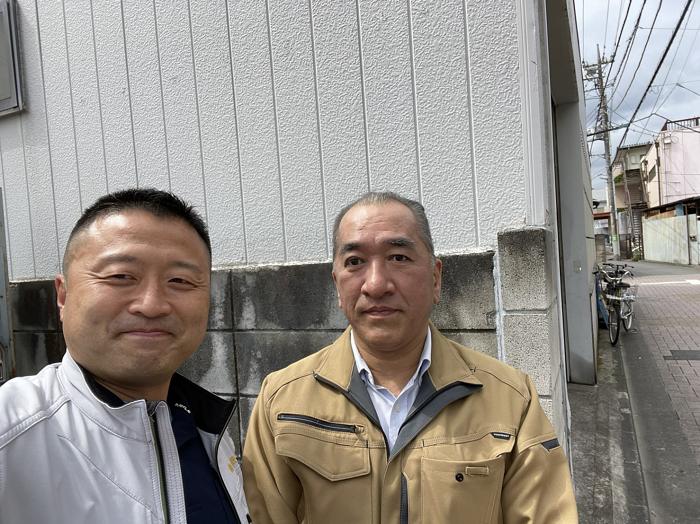 埼玉県で隣家の火災によって波板屋根が破損した工場の修繕