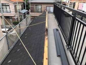 貫板破損、棟板金、台風被害