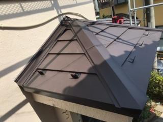 ニチハ横暖ルーフ、ガルバリウム鋼板、カバー工法