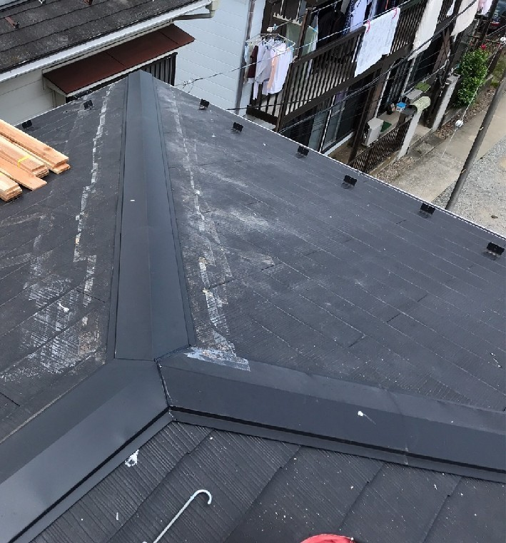 棟板金新設、台風被害、火災保険