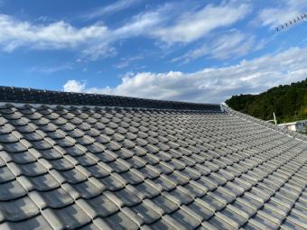 大屋根の漆喰工事