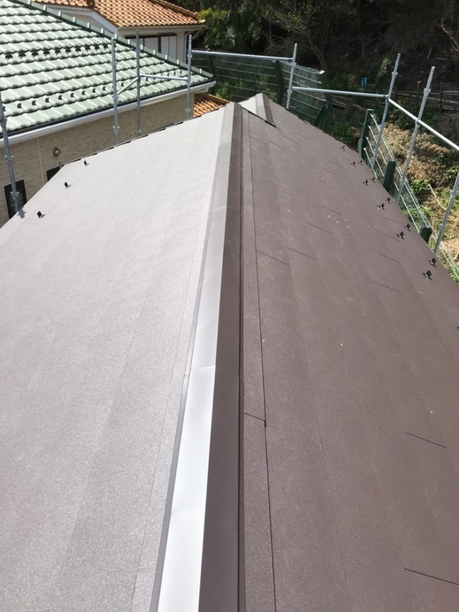大屋根 葺き替え ガルバリウム鋼板 横暖ルーフ