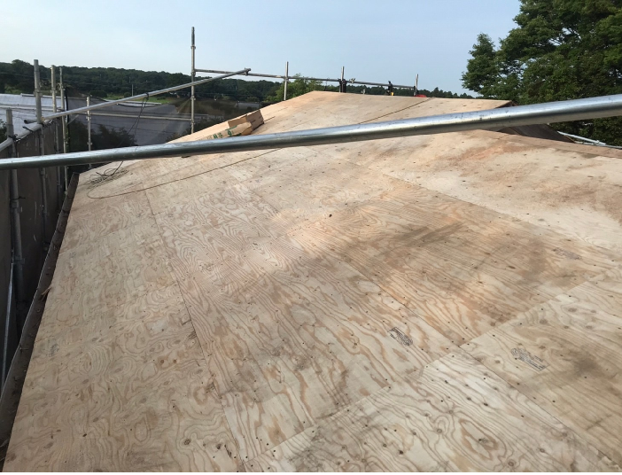 コンパネ 屋根下地 構造用合板 ラーチ ラワン