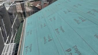 川口市で屋根工事防水シート新設