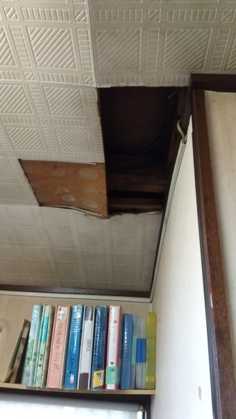 リビングルーム 雨漏り 天井