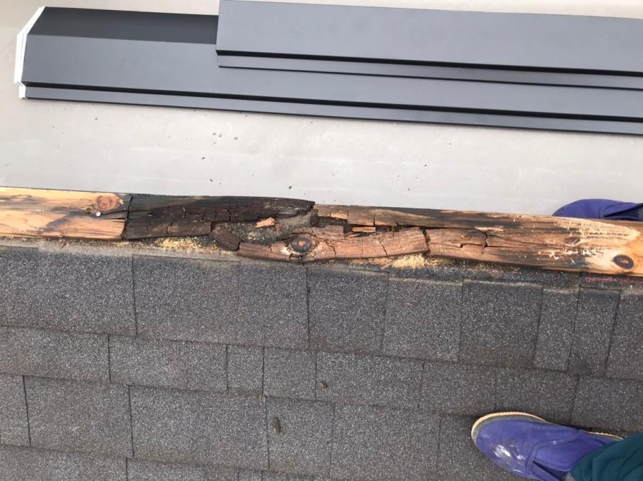 貫板が劣化、台風被害