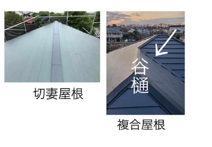 切妻屋根と複合屋根