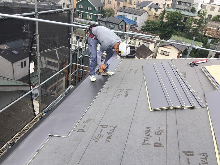 ヒランビーの施工屋根