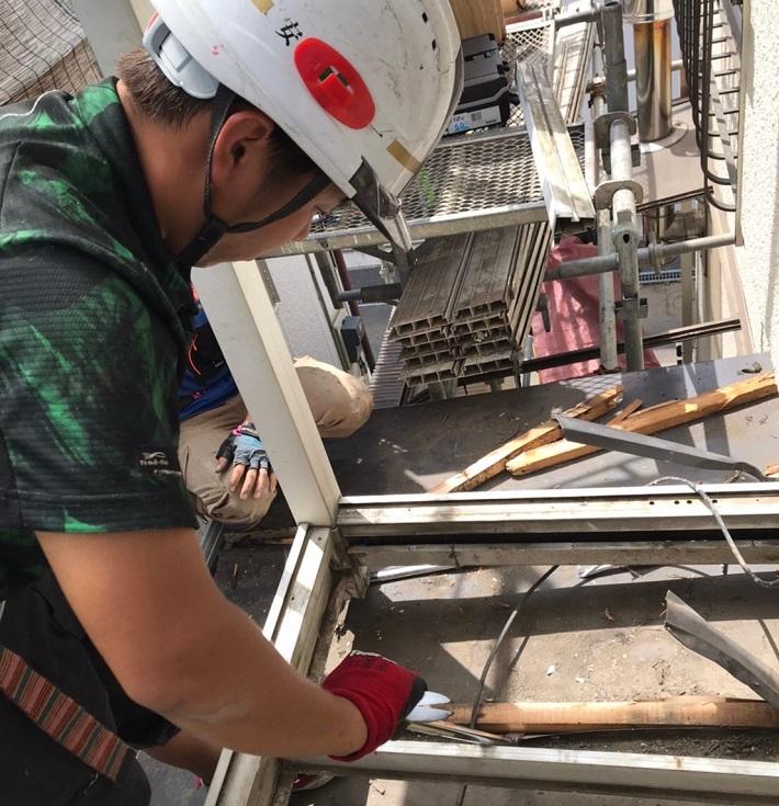 瓦棒屋根のカッパ解体