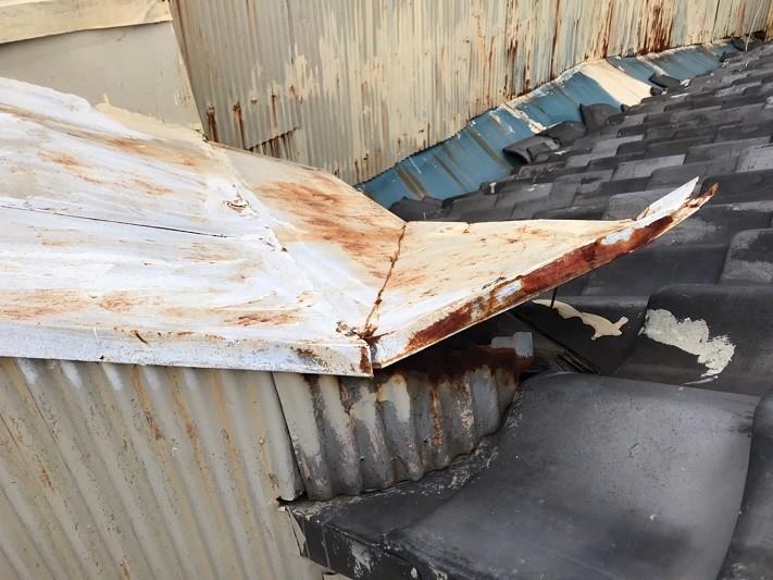 板金の台風被害