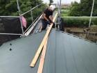 棟板金の貫板の施工