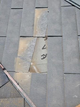 コロニアルを抜いた屋根