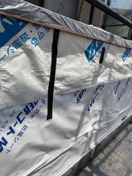 防水紙を新設した壁
