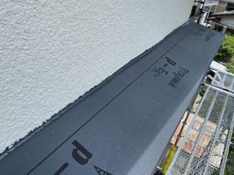 壁際の防水処理