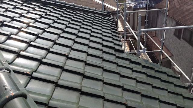 吹き替え前の瓦屋根