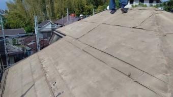 瓦を撤去した屋根