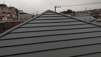 横暖を新設した屋根