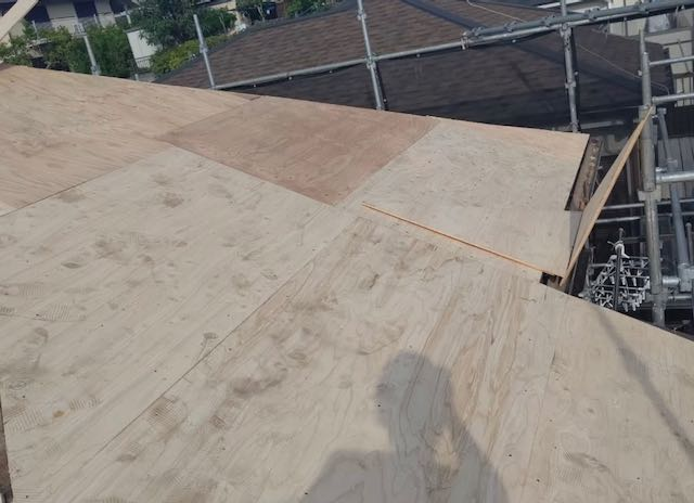 野地板新設した屋根