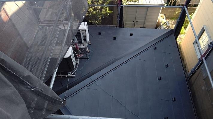横暖ルーフ 下屋根