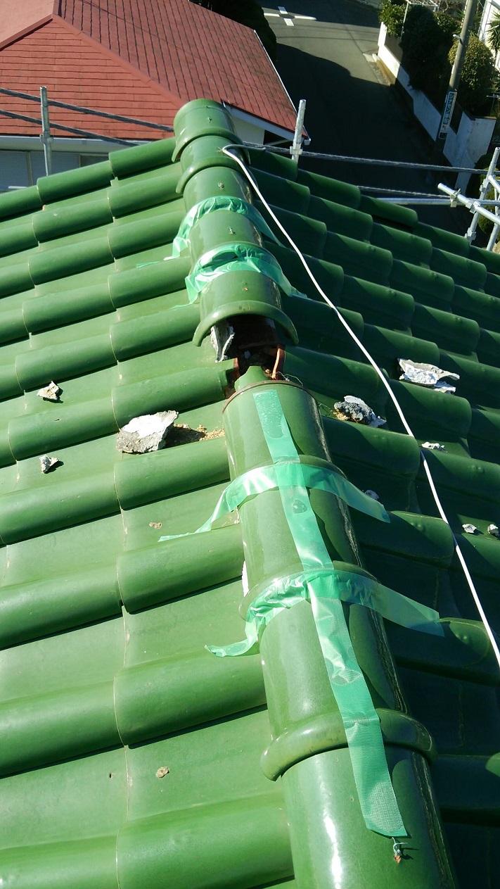 瓦屋根台風被害