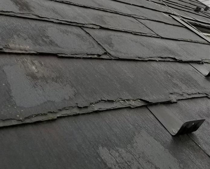 川口市でパミール屋根をカバー工法~パミールは塗装工事できません~