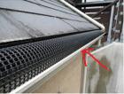 雨樋に落ち葉除けネットを設置した