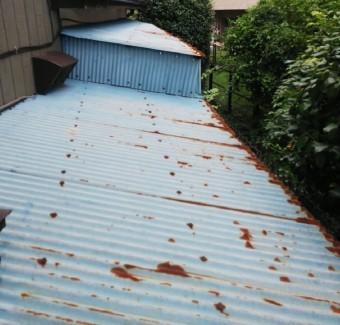 波板板金、台風破損
