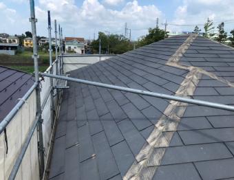 コロニアル屋根の棟撤去