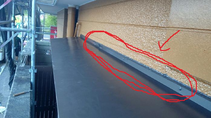 庇の葺き替え完了