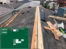 棟板金、抜き板、台風被害