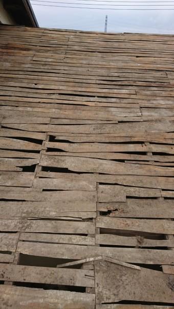 瓦屋根葺き替え工事、野地板