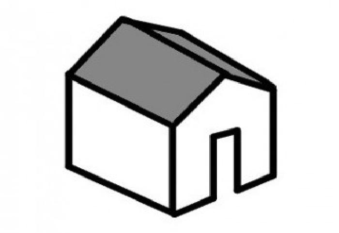 切妻屋根の形状 イラスト