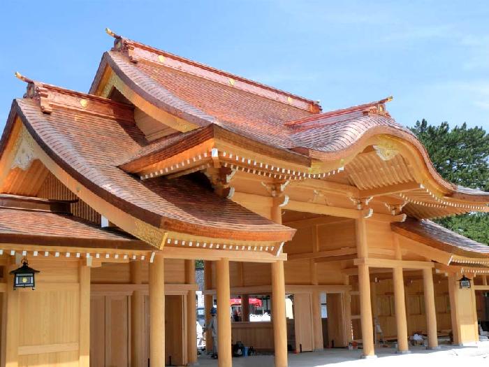 神社の銅板
