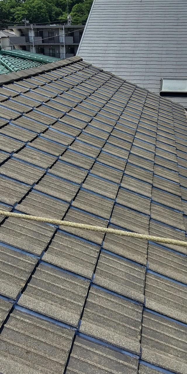 ラバーロック施工、屋根修繕、セメント瓦